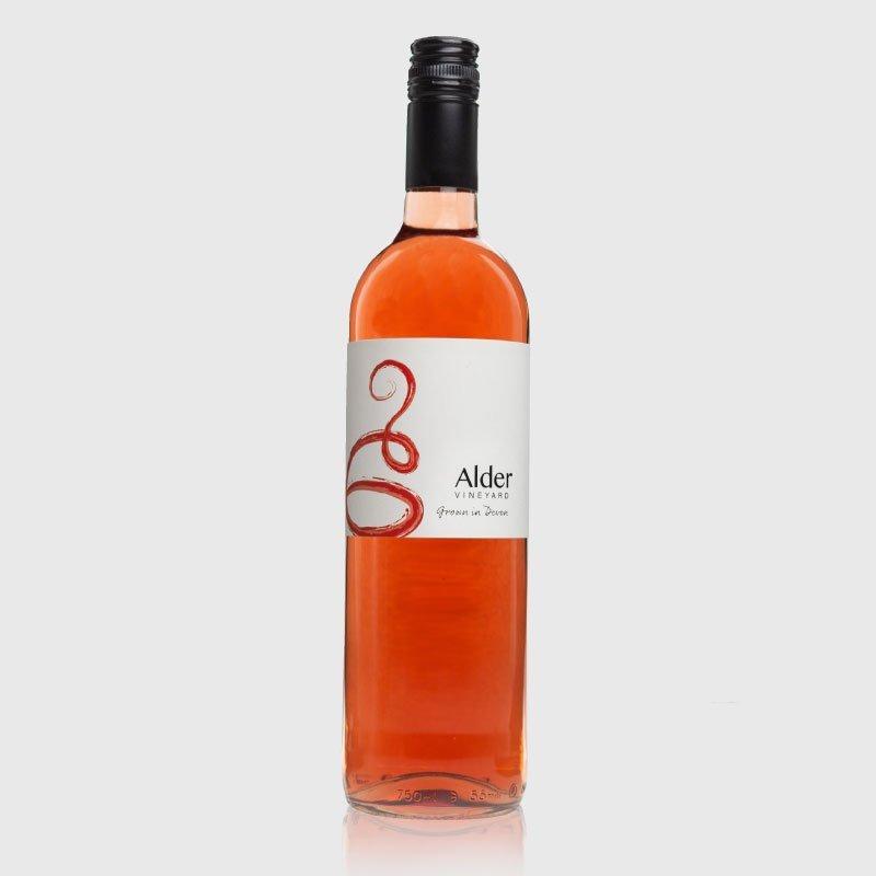 Rondo rosé bottle from our Devon vineyard