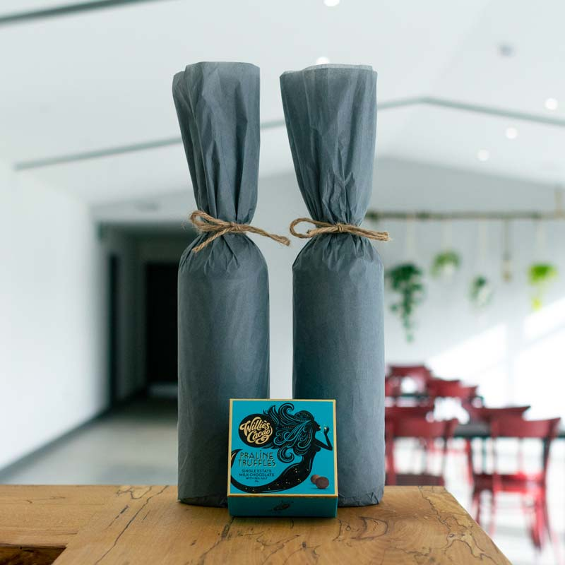 Devon wine gift wrap