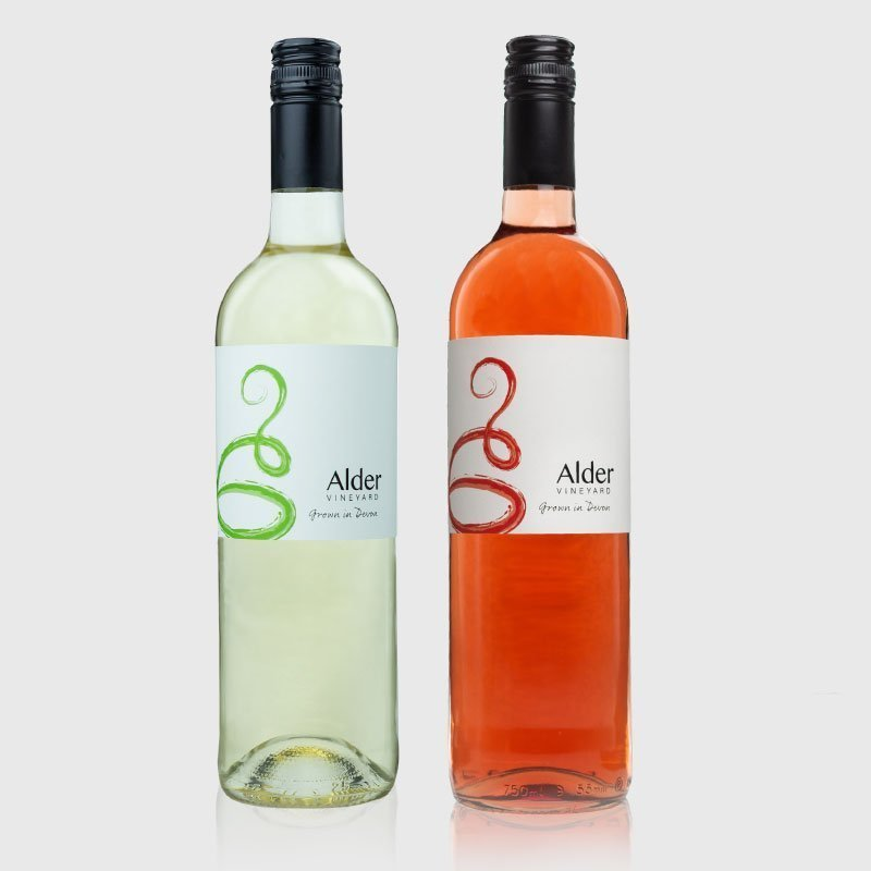 Mixed case of our English wines from our Devon vineyard
