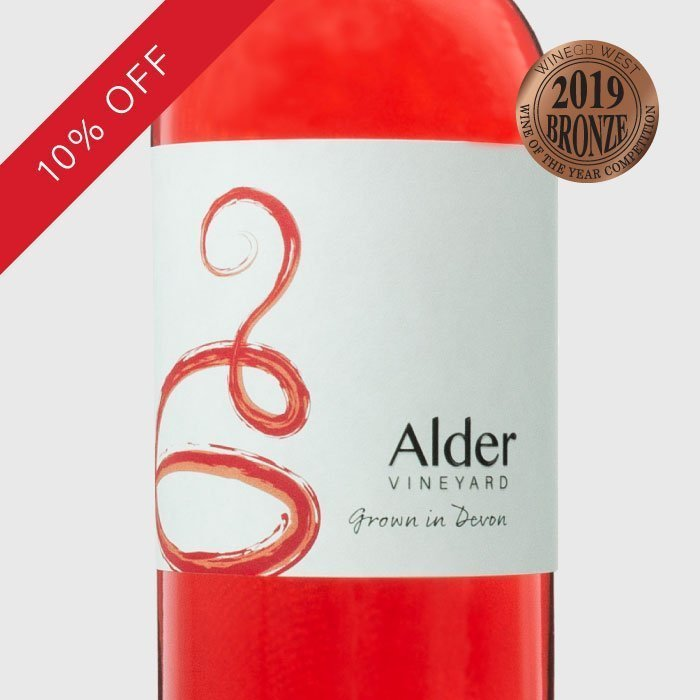 Our delicious white Devon wine - rondo rose
