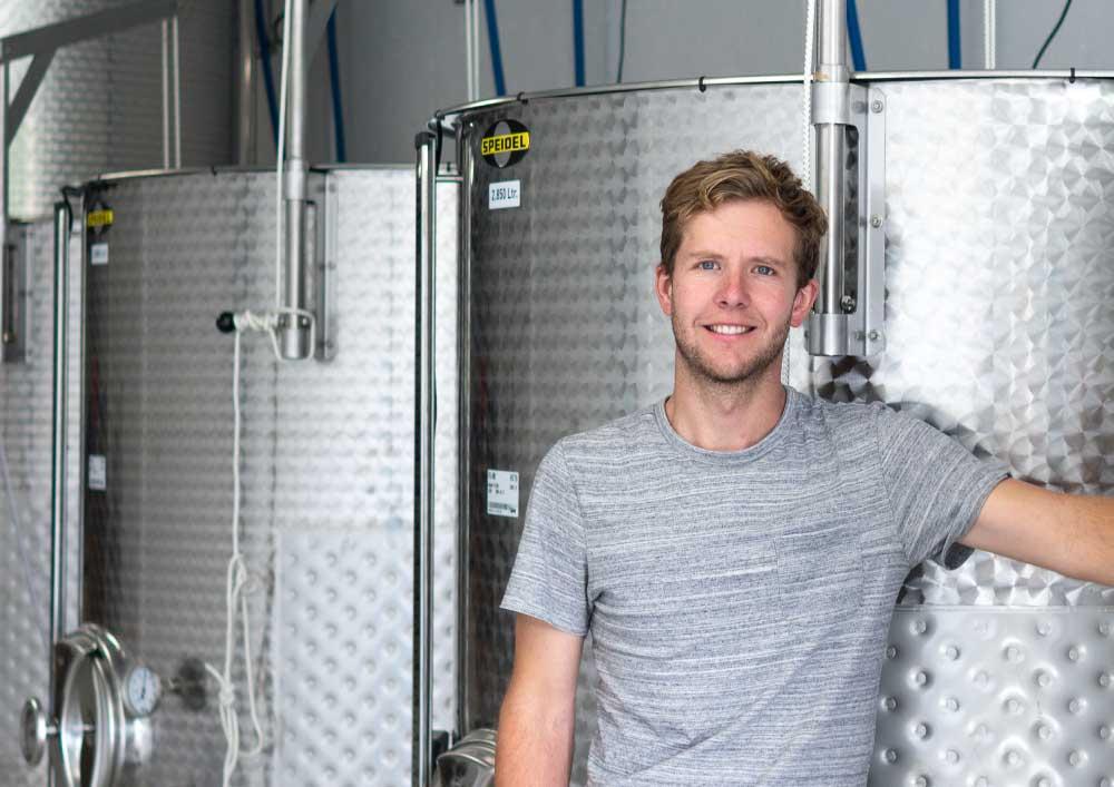 In the winery - Devon wine tasting