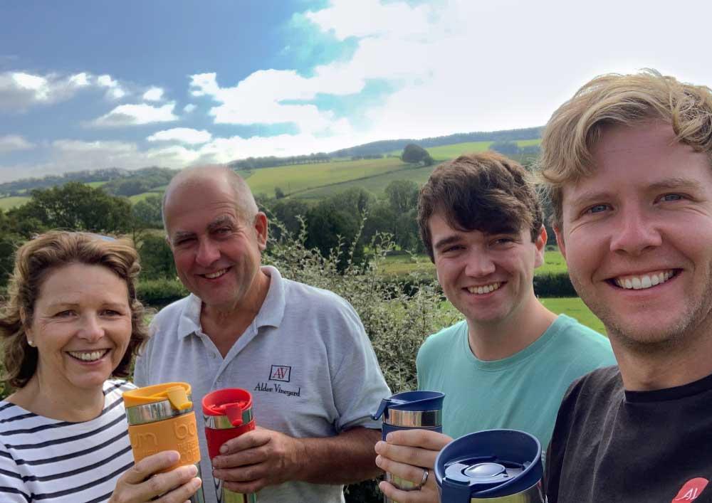 Our family team - Devon wine tasting